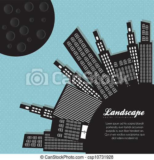 silhouettes, bâtiments - csp10731928