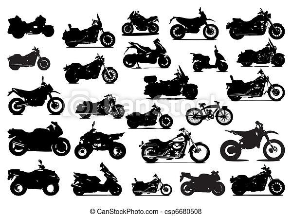 silhouettes bikes - csp6680508