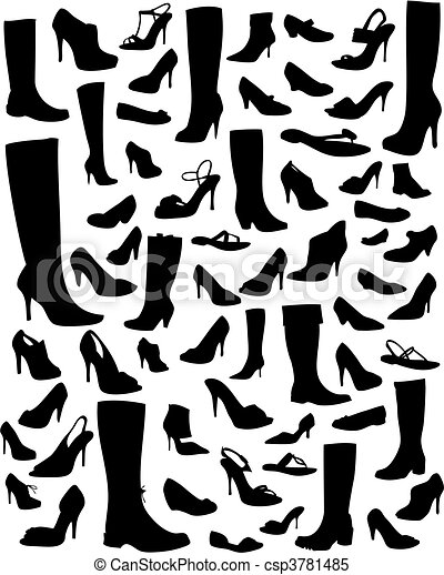 silhouettes, chaussure - csp3781485