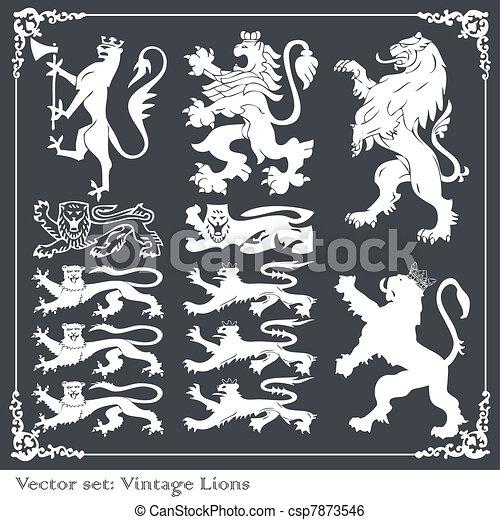 silhouettes, communie, heraldisch - csp7873546