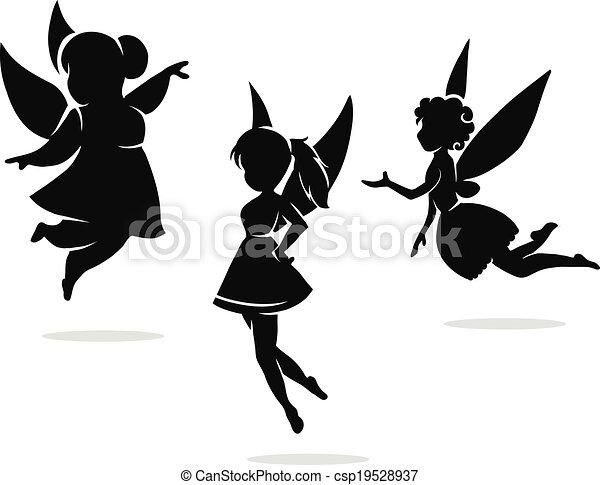 silhouettes, elfjes, weinig; niet zo(veel) - csp19528937