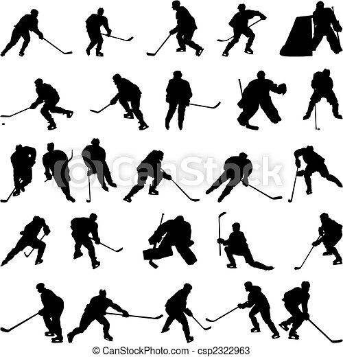 silhouettes, ensemble, hockey - csp2322963