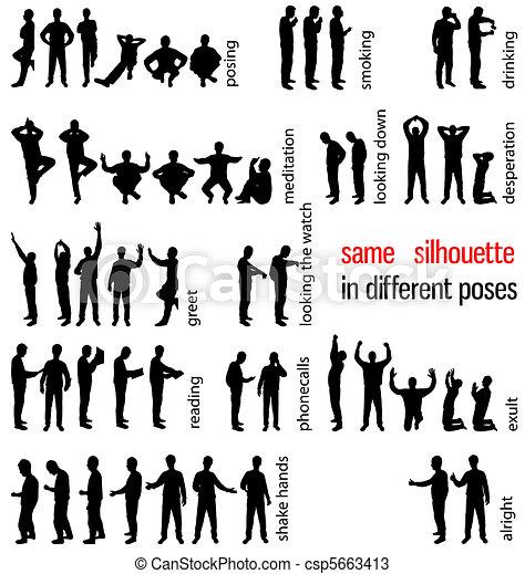 silhouettes, ensemble - csp5663413