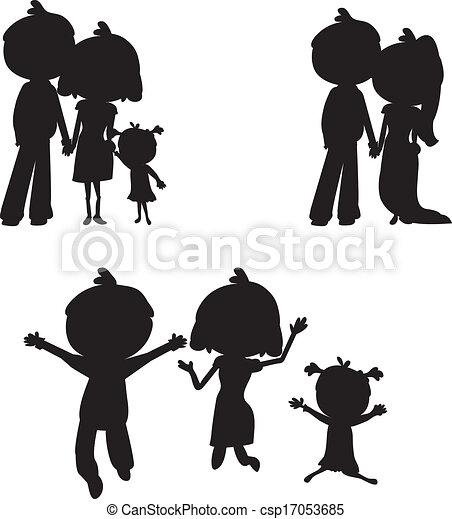 silhouettes family - csp17053685