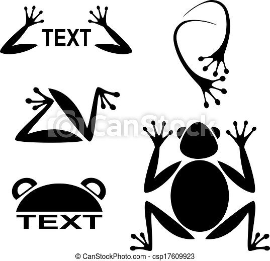 silhouettes frog vector on white background vector illustration rh canstockphoto com frog silhouette vector free frog silhouette vector free