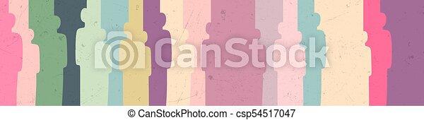 silhouettes, gens arrière-plan - csp54517047