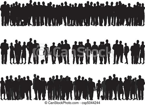 silhouettes, gens - csp5044244