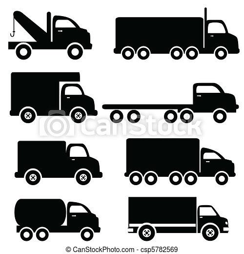 silhouettes, lastbil - csp5782569