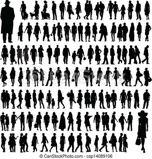 silhouettes, národ - csp14089106