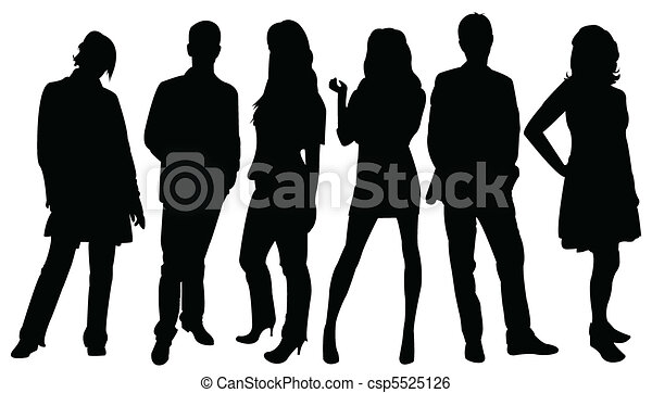 Silhouettes of business people  - csp5525126