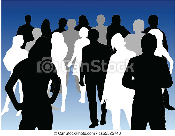 Silhouettes of business people - csp5525740