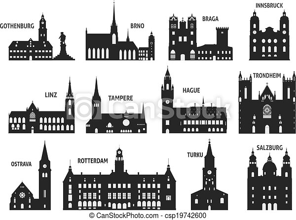 Silhouettes of cities - csp19742600