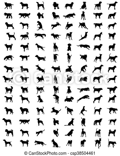 silhouettes of dogs - csp38504461