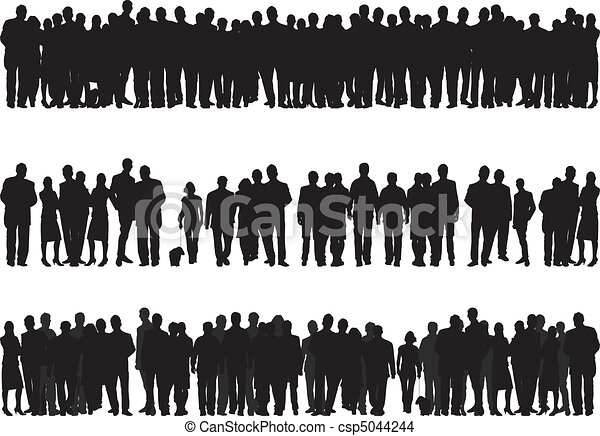 silhouettes of people - csp5044244