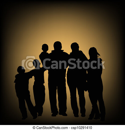 Silhouettes of people - csp10291410