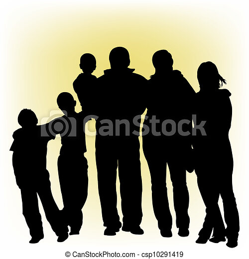 Silhouettes of people - csp10291419