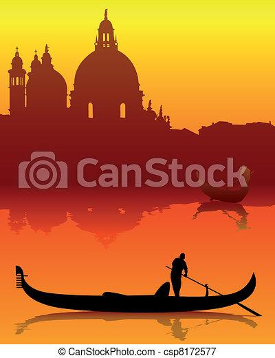 silhouettes of Venice - csp8172577