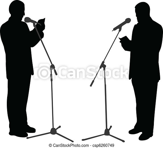 silhouettes, prise parole public - csp6260749
