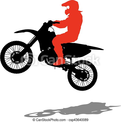 silhouettes rider participates motocross championship vector rh canstockphoto com motocross helmet clipart motocross clipart free download
