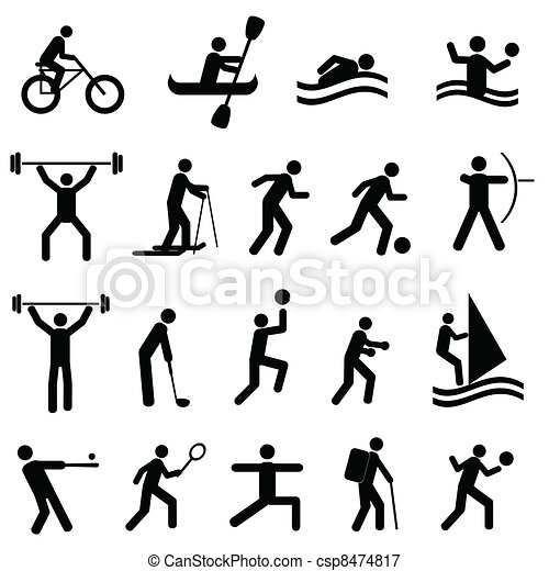 silhouettes, sporten - csp8474817