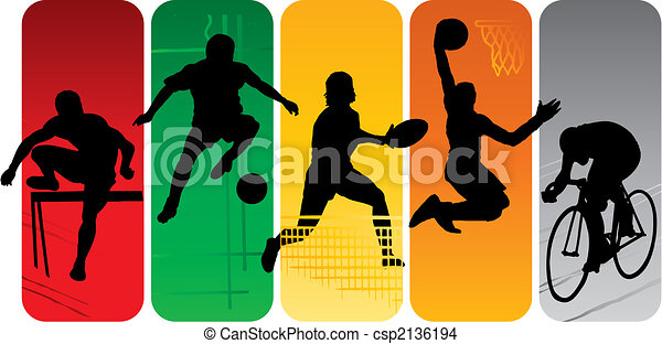 silhouettes, sportende - csp2136194