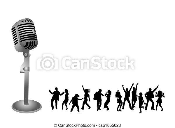silhuetas, dançar, pessoas - csp1855023