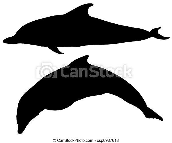 silhuetas golfinhos