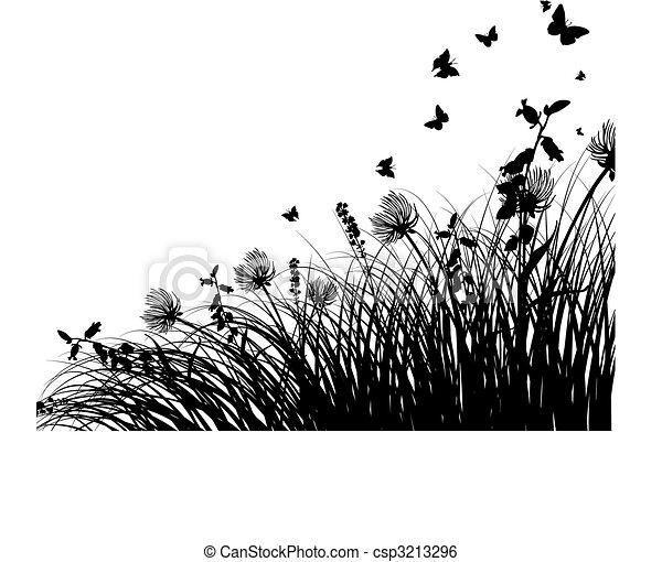 silhuetas, prado - csp3213296