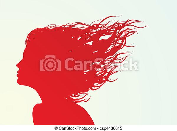 silhuett, ansikte - csp4436615