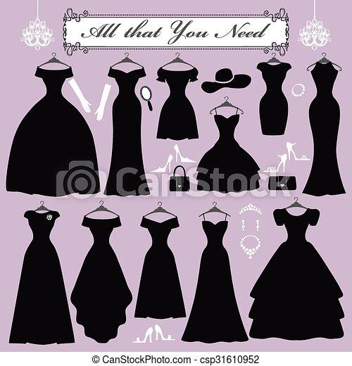 Parti, kvinna, mode, klänningar. Kvinna, isolerat, mode