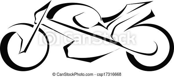 silhuett, svart fond, vit, cykel - csp17316668