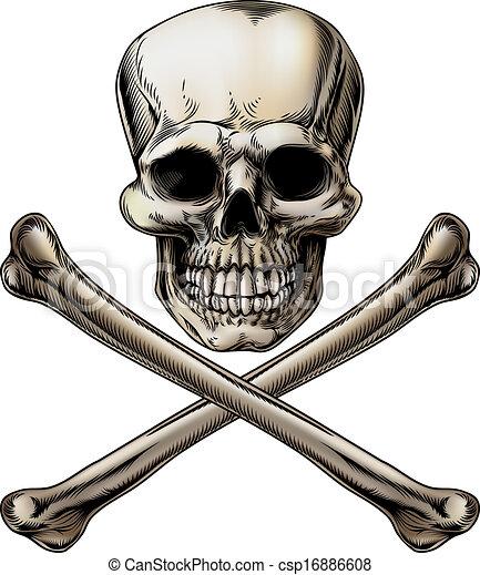 silicio, crossbones, roger, cranio, giocondo - csp16886608