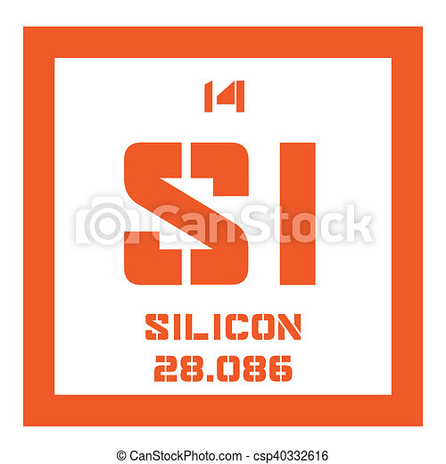 Silicon  chemical element - csp40332616