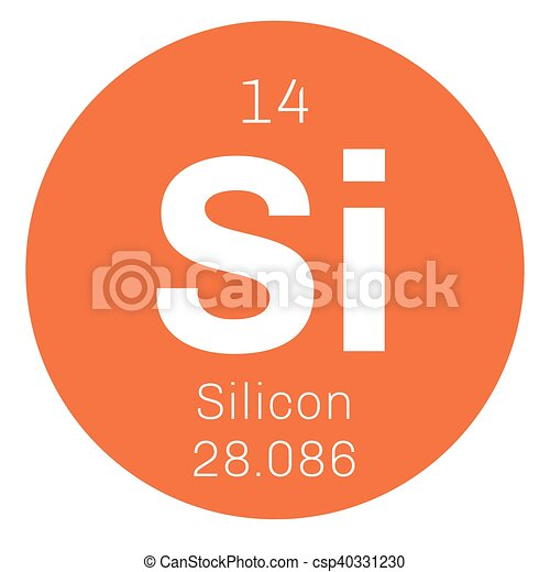 Silicon  chemical element - csp40331230