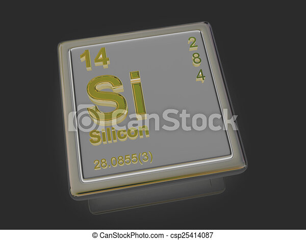 Silicon. Chemical element. - csp25414087