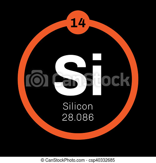 Silicon  chemical element - csp40332685
