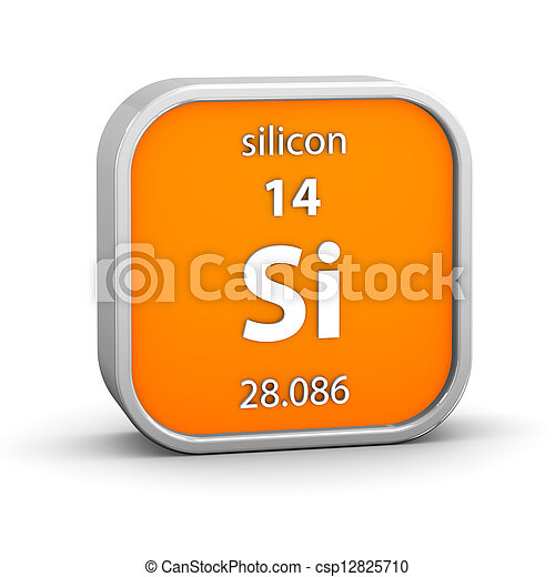 Silicon material sign - csp12825710