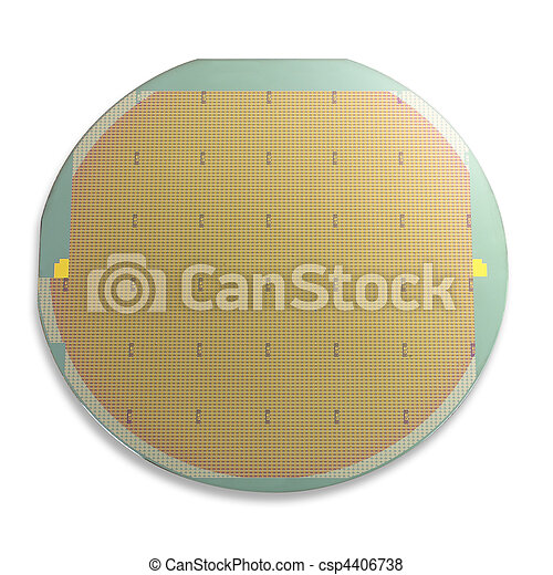 Silicon wafer, isolated - csp4406738
