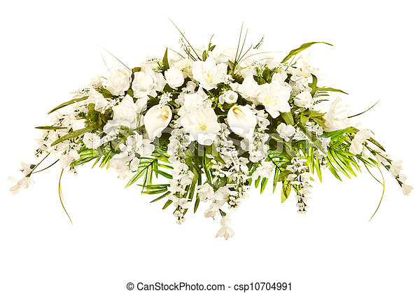 Silk casket cover arrangement - csp10704991
