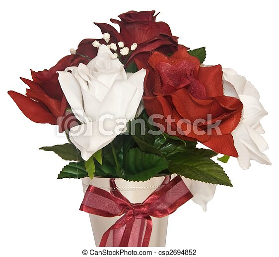 Silk Flowers Table display - csp2694852