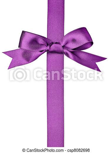 silk ribbon knot gift christmas birthday holiday - csp8082698