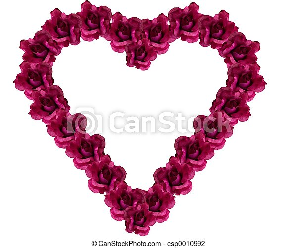Silk rose heart - csp0010992