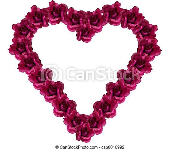 Silk rose heart - csp0010992