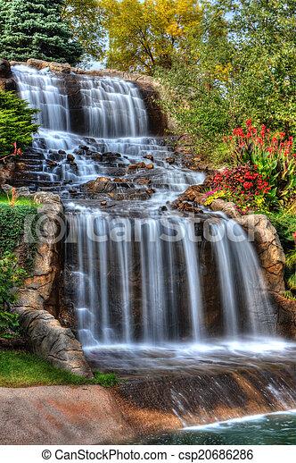 Silky Waterfall in High Dynamic Range - csp20686286