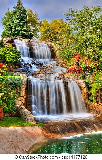 Silky Waterfall in High Dynamic Range - csp14177126