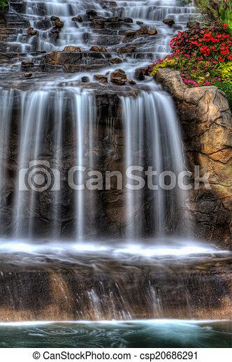 Silky Waterfall in High Dynamic Range - csp20686291