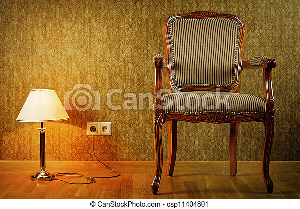 Lamp y sillón - csp11404801