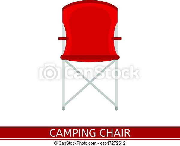 El icono de la silla de camping. Acampando vector de silla
