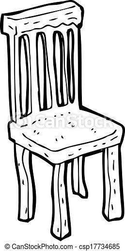 Silla de madera viejo caricatura for Sillas para viejitos