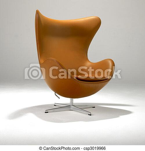 Una silla moderna de medio siglo - csp3019966